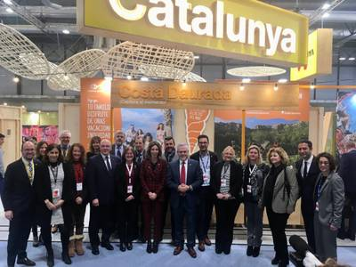 L'alcalde de Salou i president del Patronat Municipal de Turisme, Pere Granados, manté diverses reunions de treball a Fitur