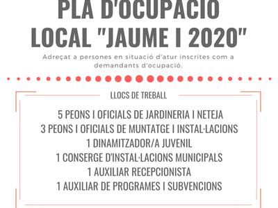 """ANUNCI DEL LLISTAT DEFINITIU DE PERSONES ADMESES I EXCLOSES DEL PROCÉS SELECTIU CONVOCAT PER A L'ACCÉS AL PLA D'OCUPACIÓ LOCAL """"JAUME I 2020 """"DE L'AJUNTAMENT DE SALOU"""