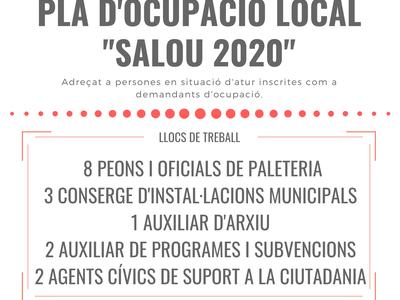 """ANUNCI DELS RESULTATS DE LES PROVES DEL PROCÉS SELECTIU CONVOCAT PER A L'ACCÉS AL PLA D'OCUPACIÓ LOCAL EXTRAORDINARI """"SALOU 2020"""" DE L'AJUNTAMENT DE SALOU"""
