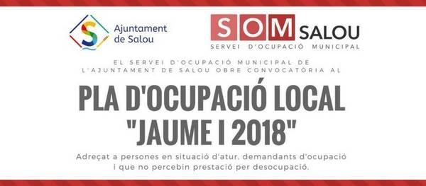 """El Servei d'Ocupació Municipal de l'Ajuntament de Salou  posa en marxa una nova edició del Pla d'Ocupació Local """"Jaume I"""""""