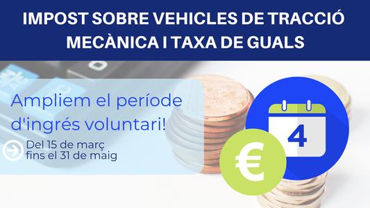 L'Ajuntament de Salou amplia el període d'ingrés voluntari de l'Impost de vehicles i de la taxa de guals