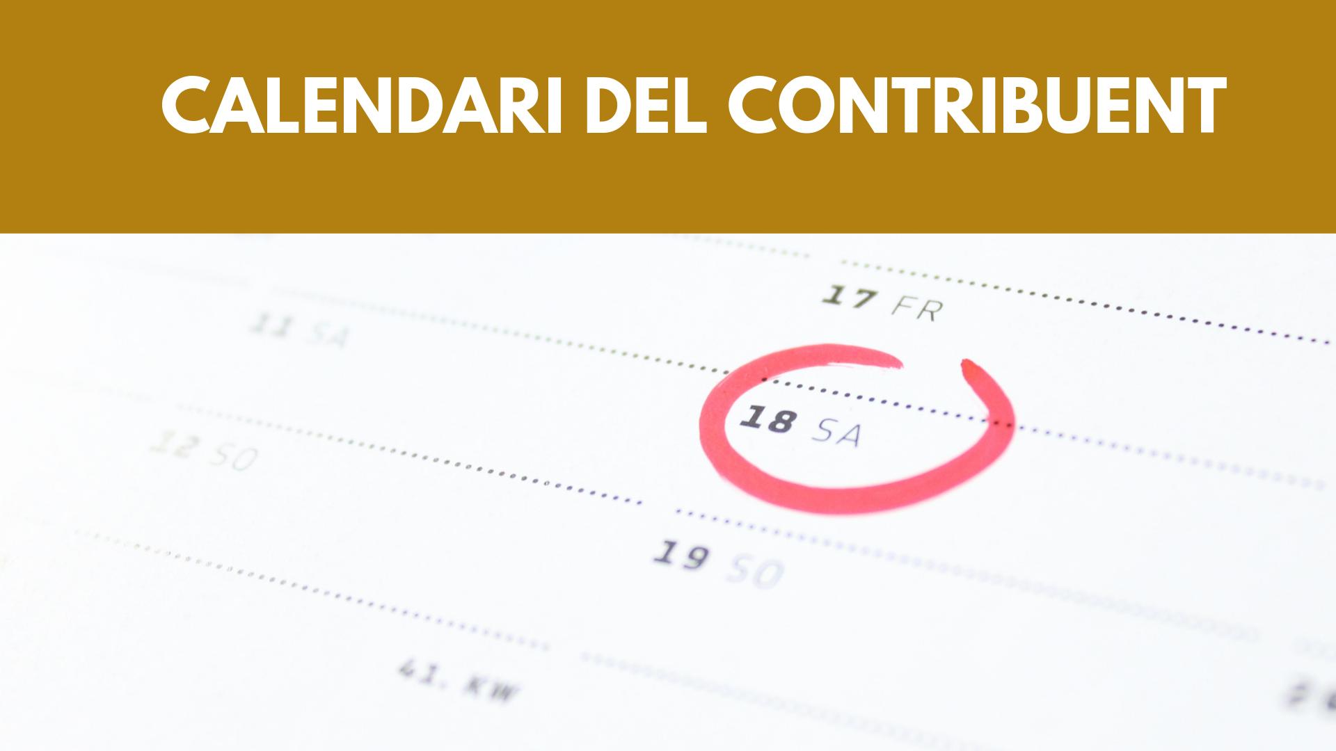 Consulta el calendari del contribuent