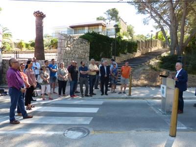 L'alcalde Pere Granados inaugura el passatge del Pinatell