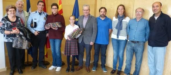 Dos estudiants de l'Escola Elisabeth excel·leixen en dos concursos d'educació viària al municipi