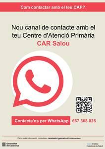 El Centre d'Alta Resolució (CAR) de Salou incorpora un nou canal de comunicació amb la ciutadania, mitjançant WhatsApp