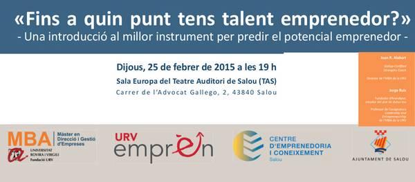 El Centre d'Emprenedoria i Coneixement de Salou, juntament amb l'MBA de la URV, organitzen una nova jornada de talent emprenedor