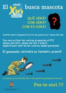 El Club Xic'S obre un concurs entre els seus socis per trobar la mascota del club