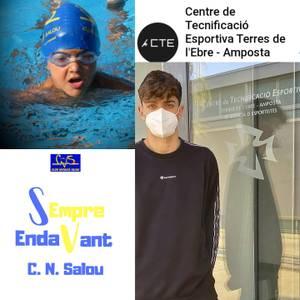 El salouenc federat infantil Aitor San Pedro García, del Club Natació Salou, aconsegueix incorporar-se al Treball d'Alt Rendiment, al Centre de Tecnificació Esportiva Terres de l'Ebre - Amposta