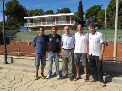 El salouenc Marc Gorriz, seleccionador de l'equip de Colòmbia de tennis, visita el Club Tennis Salou