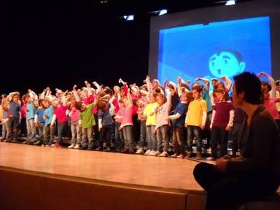 Els més petits de l'EMMS actuen al Teatre Auditori de Salou