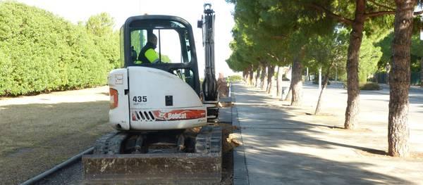 En marxa les obres de millora del carril bici de l'avinguda Pere Molas