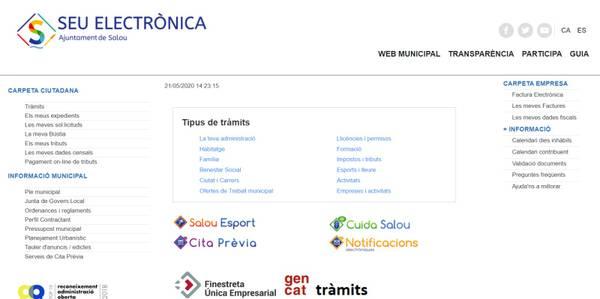 L'Ajuntament de Salou continua ampliant el nombre de serveis disponibles a la Seu electrònica