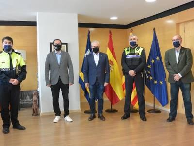 L'Ajuntament de Salou felicita Joan Anton Basora pel seu ascens com a sergent de la Policia Local