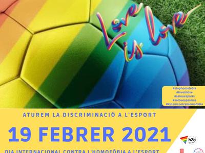 L'Ajuntament de Salou se suma al Dia Internacional contra l'homofòbia a l'esport, que se celebra demà divendres, dia 19 de febrer