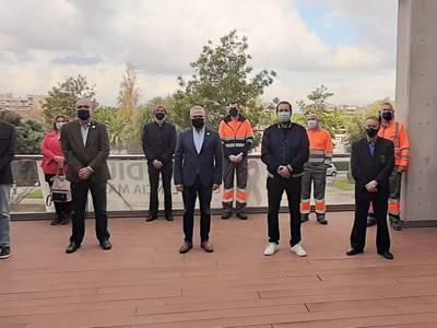 L'alcalde de Salou dona la benvinguda a les dotze persones seleccionades que passen a formar part del Pla d'Ocupació Local 'Jaume I 2020'