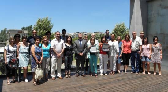 L'alcalde de Salou homenatja als mestres de l'Escola Santa Maria del Mar que s'han jubilat