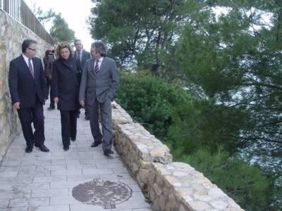 L'alcalde de Salou i la Subdelegada del Govern visiten les obres del camí de Ronda