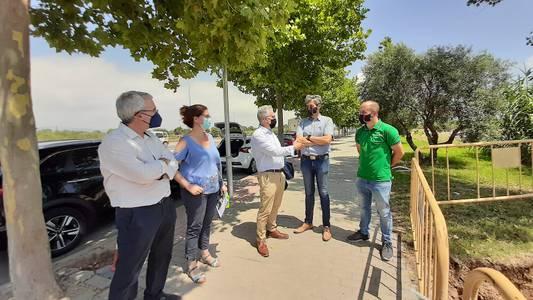 L'alcalde de Salou visita l'obra del Vial de Cavet que millora els accessos a l'Escola Elisabeth