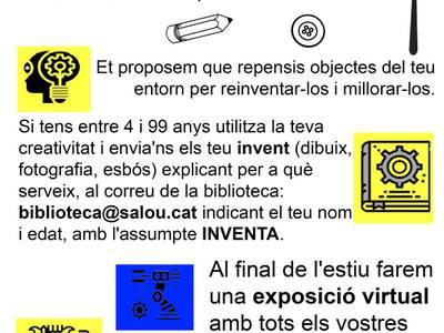 La Biblioteca de Salou impulsa aquest estiu una exposició virtual d'invents, amb dibuixos, fotografies i vídeos de la ciutadania