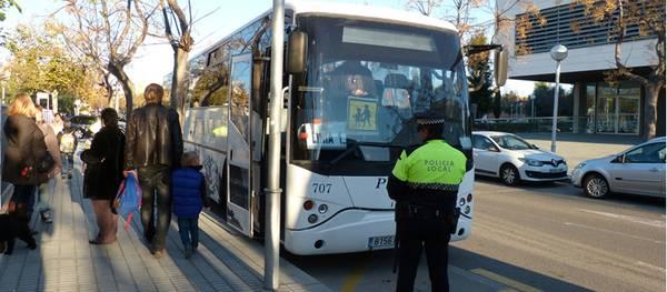 La Policia Local de Salou inicia la dotzena campanya de control del transport escolar i de menors