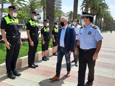 La Policia Local de Salou posa en funcionament la Comissaria de Platja, amb un total de 20 agents destinats a vetllar per la seguretat de la ciutadania