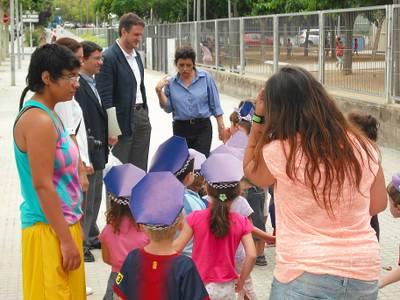 La Policia Local de Salou rep a l'alumnat del Casal Xic's d'Estiu de Salou