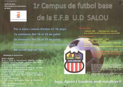 Salou organitza el primer campus de futbol base de la U.D. Salou