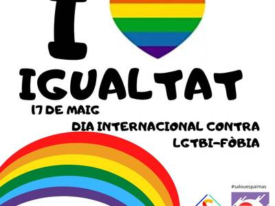 Salou reivindica la igualtat entre totes les persones, en el marc del Dia Internacional contra la LGTBI-fòbia, avui dilluns, 17 de maig
