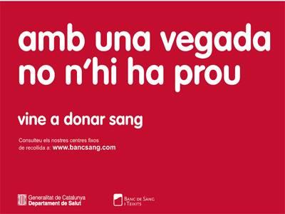 Salut anima a donar sang demà divendres