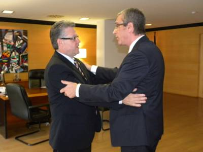 Trobada institucional entre l'alcalde de Salou i el de Tarragona