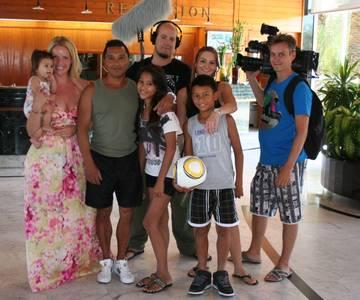 Una productora holandesa roda una pel·lícula familiar a Salou