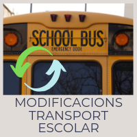 Modificacions transport escolar