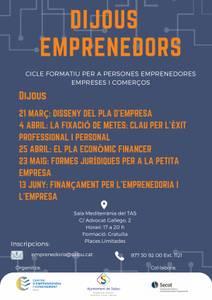 DIJOUS EMPRENEDORS: Finançament per a l'emprenedoria