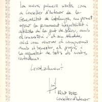 Hble. Sr. Felip Puig, Conseller d'Interior Generalitat, visita oficial, 3-3-2011
