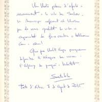 Hble. Sr. Santi Vila, Conseller de Territori i Sostenibilitat, pregoner Nits Daurades 2015, 7-8-2015