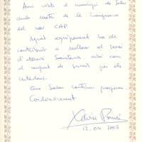 Xavier Pomés, conseller Sanitat, 12-4-2003