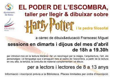 """La Biblioteca inicia hoy un ciclo de talleres de lectura y dibujo dedicados a la obra de Harry Potter """"El poder de la escoba"""""""