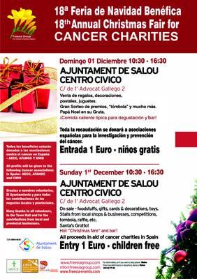 El Grupo Freesia organiza, mañana domingo, la 18ª edición de la Feria de Navidad Benéfica para la lucha contra el cáncer en Salou