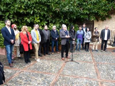 El alcalde Pere Granados recibe a las entidades del municipio en la Torre Vella con motivo de la Festa Major d'hivern de Salou 2020