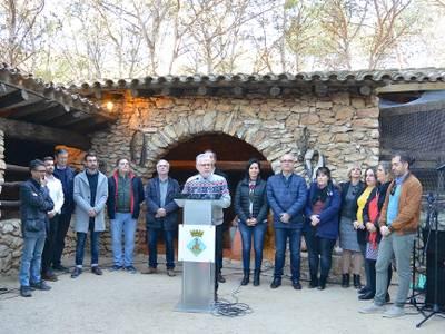 El alcalde Pere Granados y la Corporación felicitan la Navidad a la ciudadanía salouense en la Masia Catalana
