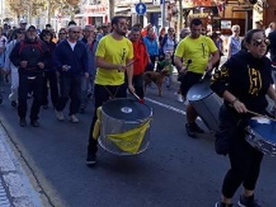 Alrededor de 200 personas se suman a la décima edición de la bicicletada, la caminata y la excursión de Fiesta Mayor del 30 de Octubre