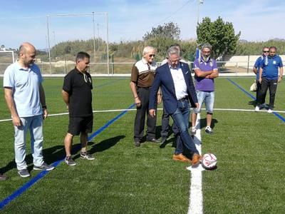 Inaugurado el nuevo campo de fútbol y los vestuarios del Estadio Municipal de Salou
