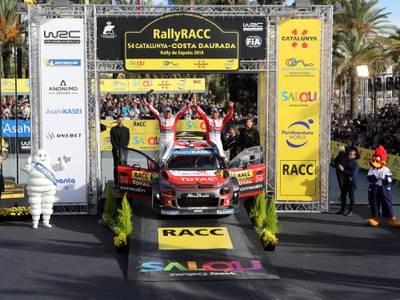 Loeb-Elena (Citroën) ganan el 54 RallyRACC-Catalunya-COSTA DAURADA por novena vez
