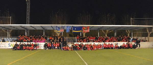 Más de 250 futbolistas fueron protagonistas en la presentación de la Unión Deportiva U.D. Salou