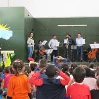 cuento musical En Jan petit en las escuelas Voramar y Salou