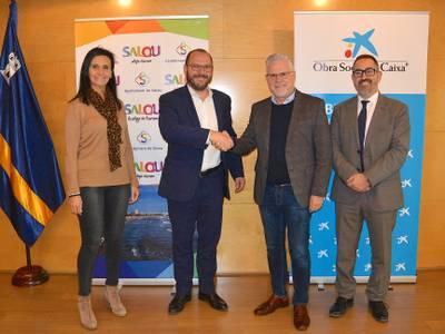 El Ayuntamiento de Salou recibe la colaboración de la Obra Social 'la Caixa' en el proyecto recién llegados
