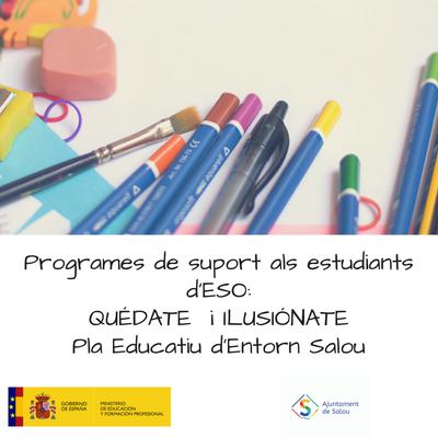 La concejalía de Educación inicia un programa de clases de apoyo a alumnos de la ESO en el marco de los programas 'Ilusiónate' y 'Quédate'