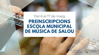 La Escuela Municipal de Música de Salou abre el calendario de preinscripción y matriculación