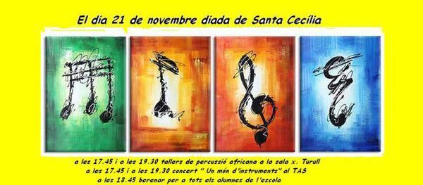La Escuela Municipal de Música de Salou conoce de cerca la cultura africana en manos de la compañía Khan Cartrö para el Día de Santa Cecilia