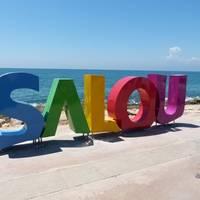 Monumento Letras Salou - Acantilados